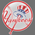 new york yankees 1968-pres primary plastic effect logo iron on transfer
