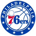 Philadelphia 76ers 2016-Pres Primary Logo decal sticker