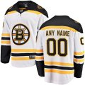 Boston Bruins Custom Letter and Number Kits for White Boston Jersey