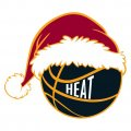 Miami Heat Basketball Christmas hat decal sticker