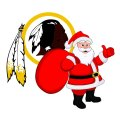Washington Redskins Santa Claus Logo iron on transfer