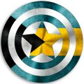 CAPTAIN AMERICA THE BAHAMAS Flag decal sticker