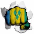hulk SAINT VINCENT AND THE GRENADINES Flag decal sticker