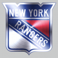 New York Rangers Stainless steel logo decal sticker
