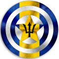 CAPTAIN AMERICA BARBADOS Flag decal sticker
