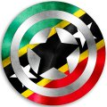 CAPTAIN AMERICA Saint Kitts and Nevis Flag decal sticker