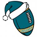Jacksonville Jaguars Football Christmas hat iron on transfer