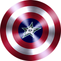 captain american shield with dallas stars logo decal sticker