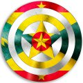 CAPTAIN AMERICA GRENADA Flag decal sticker
