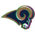 Phantom Los Angeles Rams logo iron on transfer