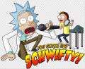 You gotta get schwifty iron on sticker