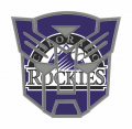Autobots Colorado Rockies logo iron on transfers
