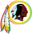 Phantom Washington Redskins logo iron on transfer