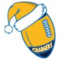 San Diego Chargers Football Christmas hat iron on transfer