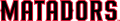 Cal State Northridge Matadors 2014-Pres Wordmark Logo 02 iron on transfer