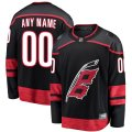 Carolina Hurricanes Custom Letter and Number Kits for Black Jersey