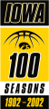 Iowa Hawkeyes 2002 Anniversary Logo iron on transfer