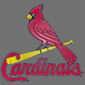 st. louis cardinals 1998-pres primary logo plastic effect logo iron on transfer