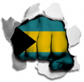 hulk THE BAHAMAS Flag decal sticker