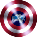 captain american shield with orlando magic logo iron on transfer