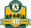 Oakland Athletics 2008 Anniversary Logo iron on transfer