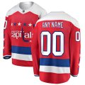 Washington Capitals Custom Letter and Number Kits for Red Alternate Jersey