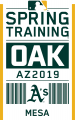 Oakland Athletics 2019 Event Logo iron on transfer