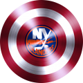 captain american shield with new york islanders logo decal sticker