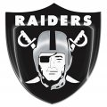 oakland raiders crystal logo iron on sticker