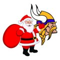 Minnesota Vikings Santa Claus Logo iron on transfer