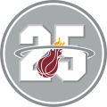 Miami Heat 2013 Anniversary Logo decal sticker
