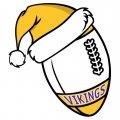 Minnesota Vikings Football Christmas hat iron on transfer