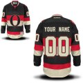 Ottawa Senators Custom Letter and Number Kits for Black Jersey