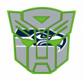 Autobots Seattle Seahawks logo decal sticker