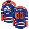 Edmonton Oilers Custom Letter and Number Kits for Royal Alternate Jersey