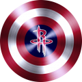 captain american shield with houston rockets logo iron on transfer