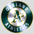 Oakland Athletics Stainless steel logo decal sticker