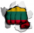 hulk LITHUANIA Flag decal sticker