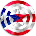 CAPTAIN AMERICA PUERTO RICO Flag decal sticker