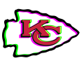 Phantom Kansas City Chiefs logo iron on transfer