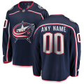 Columbus Blue Jackets Custom Letter and Number Kits for Navy home Jersey