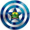 CAPTAIN AMERICA Vermont State Flag iron on transfer