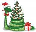Personalized Christmas Snake DIY decals stickers 2