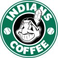 cleveland indians starbucks coffee logo iron on transfer