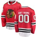 Chicago Blackhawks Custom Letter and Number Kits for Red home breakaway Jersey