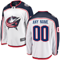Columbus Blue Jackets Custom Letter and Number Kits for White Away Jersey