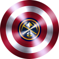 captain american shield with denver nuggets logo iron on transfer