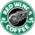 detroit red wings starbucks coffee logo iron on transfer