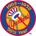 New York Yankees 1952 Anniversary Logo 02 iron on transfer iron on transfer
