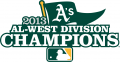Oakland Athletics 2013 Champion Logo iron on transfer